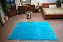 DYWAN 90x160 SHAGGY 5cm TURKUS miękki jednolity Kolor odcienie niebieskiego