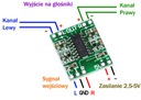 Mini moduł PAM8403 - 5V wzmacniacz audio 3W + 3W Producent China