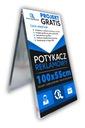 Potykacz stojak 100x55cm z grafiką Projekt Gratis