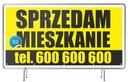 Baner Reklamowy Sprzedam DOM/Działkę/Mieszkanie Rodzaj drukowany pod wymiar