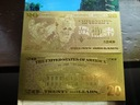 Banknot Pozłacany 24 karat 20$-DOLARÓW