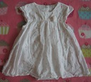 Sukienka w motylki z bodami F&F 68cm 3-6 m