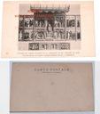 Ołtarz rzeźbiony w kaplicy - stara pocztówka