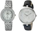 Burgi Women's BUR152SS Silver Quartz Watch Set Inc