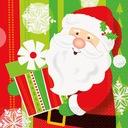 Serwetki papierowe świąteczne Mikołaj 33x33cm 16sz