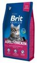 BRIT PREMIUM CAT ADULT CHICKEN 8KG + PREZENT