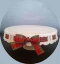 Patera ceramiczna ze wstążką w kratkę