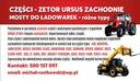 MOST ZWROTNICA CAT CATAPILLAR ZF JLG ROZNE TYPY