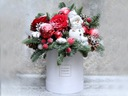 BOX MAGICZNYCH ŚWIĄT piękne kwiaty boks kwiatowy