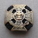 Krzyż harcerski 1946/7 XIX nr 917 złota lilijka Au
