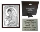 OBRAZEK srebrny Matka Boska Ślub Chrzest 15x20