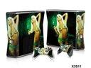 Xbox 360 Slim naklejki na konsolę - 2 wzory