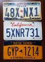 Texas, California, New York  - tablice USA