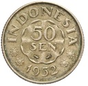 Indonezja - moneta - 50 Sen 1952 - RZADKA !