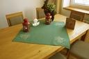 Zielona Świąteczna Serweta 75/75 Kwadratowy Obrus