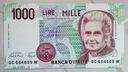 Włochy, 1000 lirów z 1990 r.
