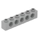 Lego Technic belka 1x6 jasnoszary nowy 3894 # 2szt