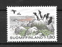 Finlandia znaczek ** czysty fauna ptaki