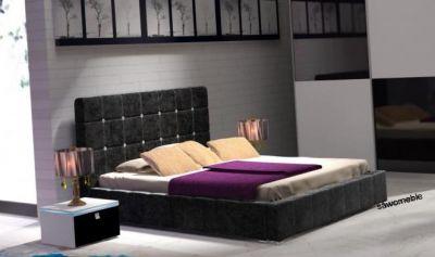 łóżko 180x200 Cm Stelażpojemnik