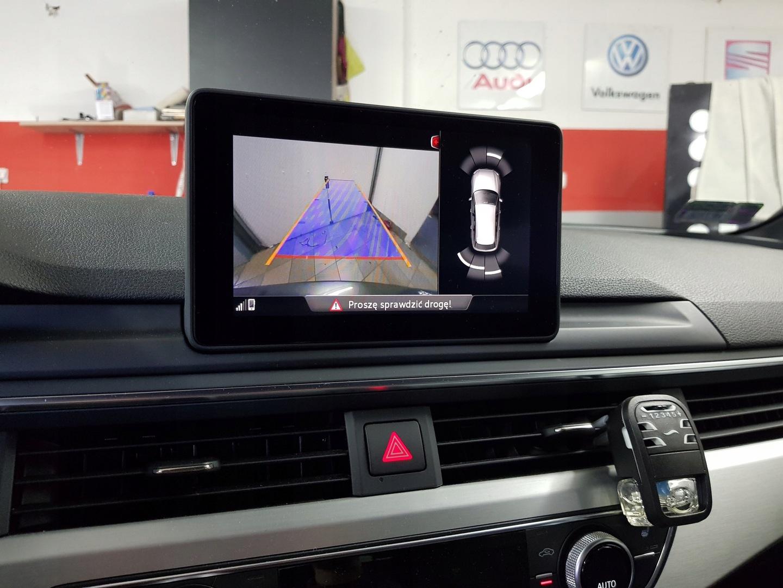 камера заднего вида Audi A4 B9 8w монтаж Doposażanie купить с