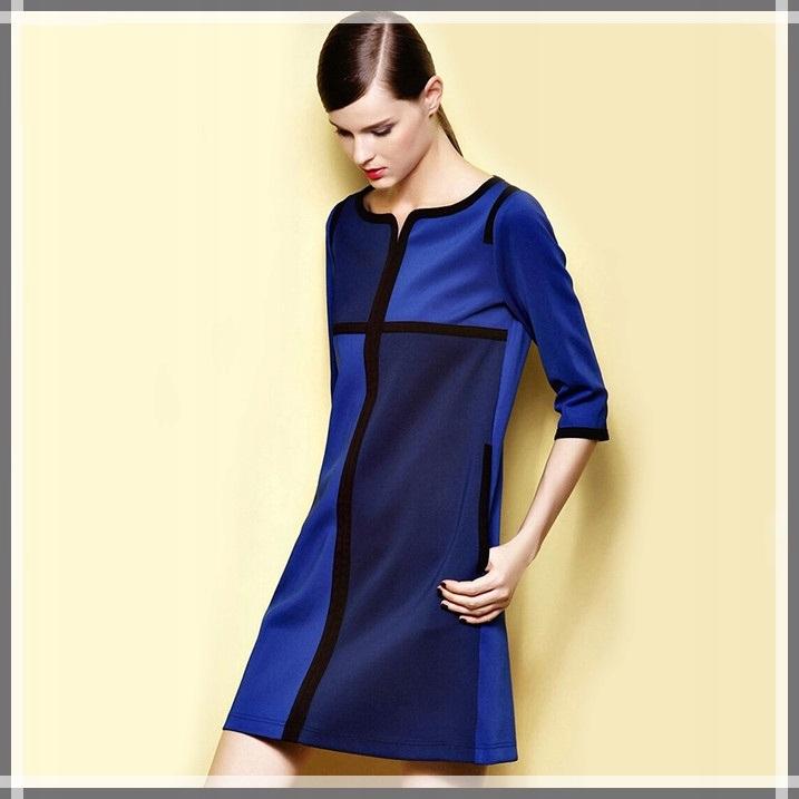 a99a0910bd Tunika trapezowa sukienka granatowo-czarna 2XL 7770851335 - Allegro.pl