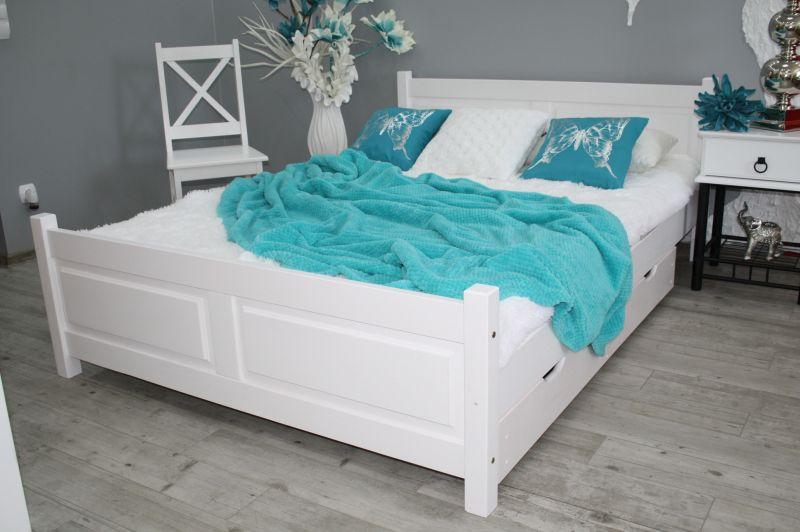 łóżko Lena Białe 160x200 Stelaż Sypialnia 100 6554314124 Allegropl