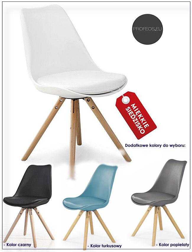 Krzesło CZERWONE Białe Zielone FOTEL Młodzieżowy 6069889895