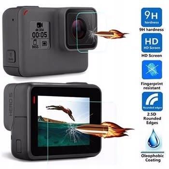 GoPro Hero 5 6 Szkło hartowane ochronne zestaw H9