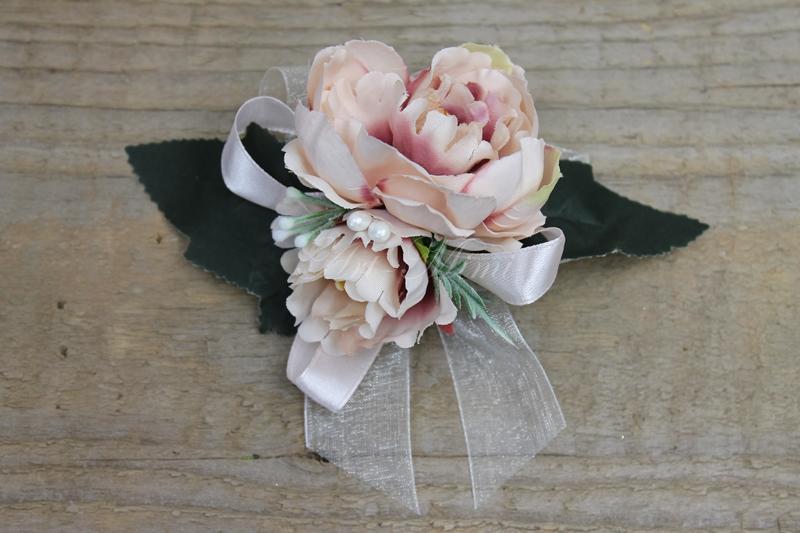 Kotylion Rękę Przypinka Pudrowy Róż Studniówka 7161227603 Allegropl