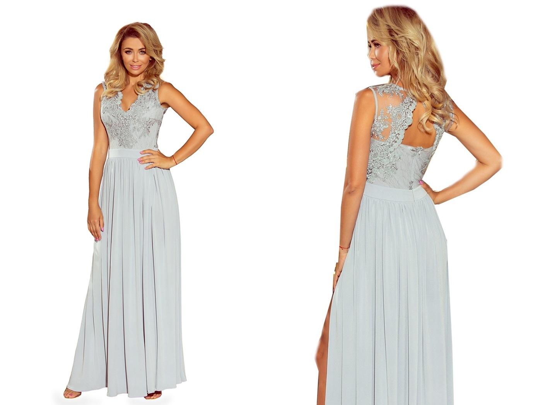 e1b0aff9d4 KORONKOWA DŁUGA Sukienka SUKNIA NA WESELE 215-1 L 7609135479 ...