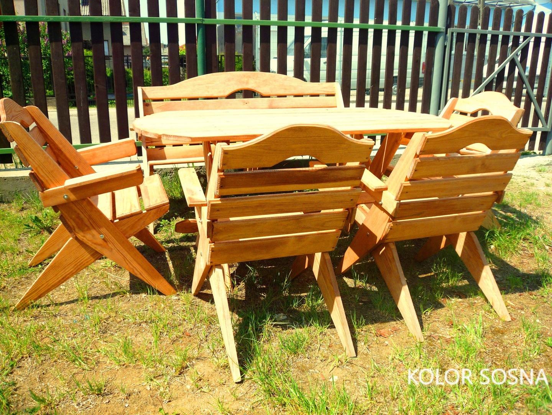 Meble ogrodowe drewniane allegro