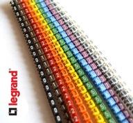 Oznaczniki kablowe LEGRAND, zestaw 50szt 1,5-2,5mm