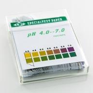 Paski 4-7 do badania PH w moczu, pochwie - 100szt