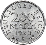 Niemcy - 200 Marek 1923 G - MENNICZA Z ROLKI