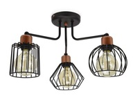 Lampa Plafon Loft Edison z Drutu Druciana 720-3