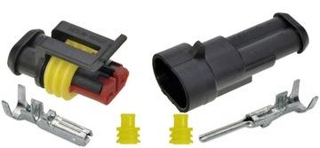 разъем штекер соединение герметичные superseal 2 pin - фото