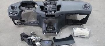 ford fiesta mk7 szaroziel торпеда консоль airbag оригинал - фото