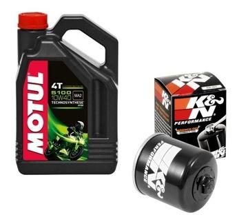 масло motul 5100 10w40 4l +  фильтр kn-204 kn-303 138 - фото