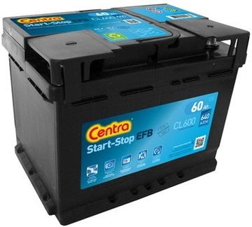 аккумулятор centra start стоп cl600 60ah 640a p+ - фото