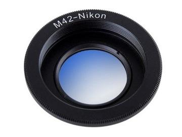 Adapter Nikon M42 z powłokami NIESKOŃCZONOŚĆ MC доставка товаров из Польши и Allegro на русском