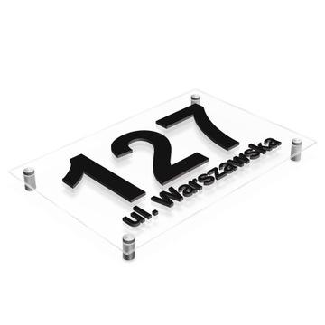 Табличка на дом, адресная Табличка НОМЕР 3D 30 x 20 доставка товаров из Польши и Allegro на русском