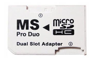QBA2 Адаптер DUAL MicroSD на MemoryStick Pro Duo ! доставка товаров из Польши и Allegro на русском