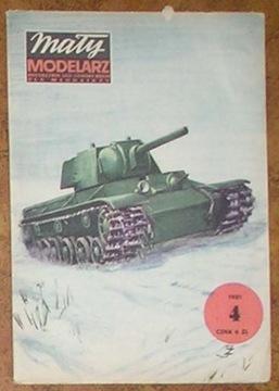 MM 4/1981 Radziecki czołg ciężki KW-1 доставка товаров из Польши и Allegro на русском