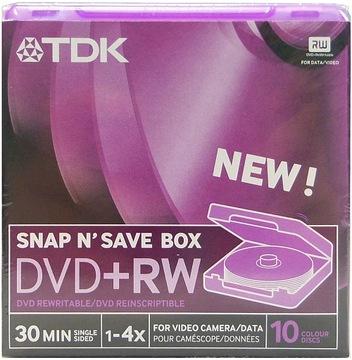 TDK Mini DVD+RW 10шт x4 BOX 1,4 гб 8см Для Видеокамер доставка товаров из Польши и Allegro на русском