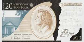 Банкнота 20 злотых Фредерик Шопен доставка товаров из Польши и Allegro на русском