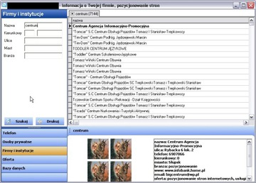 программа для обслуживания баз данных телефонная книга доставка товаров из Польши и Allegro на русском