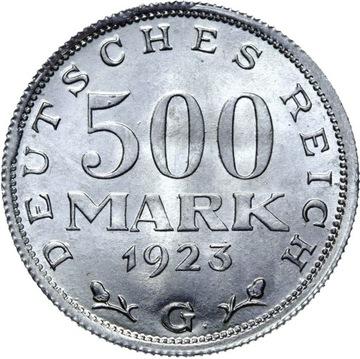 Германия 500 Марок 1923 Г - MENNICZA ИЗ РУЛОНА доставка товаров из Польши и Allegro на русском