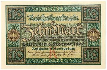 Германия - БАНКНОТЫ - 10 Марок 1920 доставка товаров из Польши и Allegro на русском