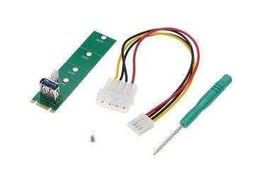 Adapter Riser M.2 NGFF do USB3.0 +4Pin FDD LM-171U доставка товаров из Польши и Allegro на русском