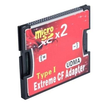 Адаптер 2x MicroSD на CF Тип I Две 2 карты  доставка товаров из Польши и Allegro на русском